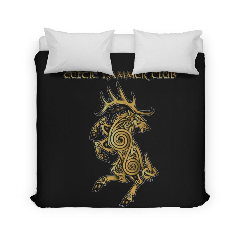 Celtic Elk Rampant Home Duvet by Celtic Hammer Club Apparel