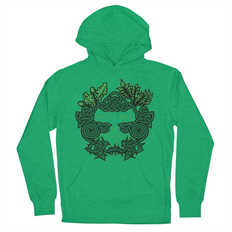 Oak, Ash & Thorn Band Logo Women's French Terry Pullover Hoody by Celtic Hammer Club