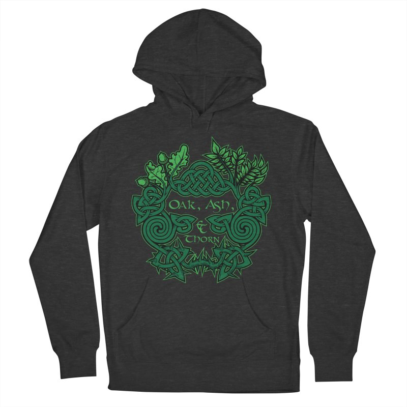 Oak, Ash & Thorn Band Logo Women's French Terry Pullover Hoody by Celtic Hammer Club Apparel