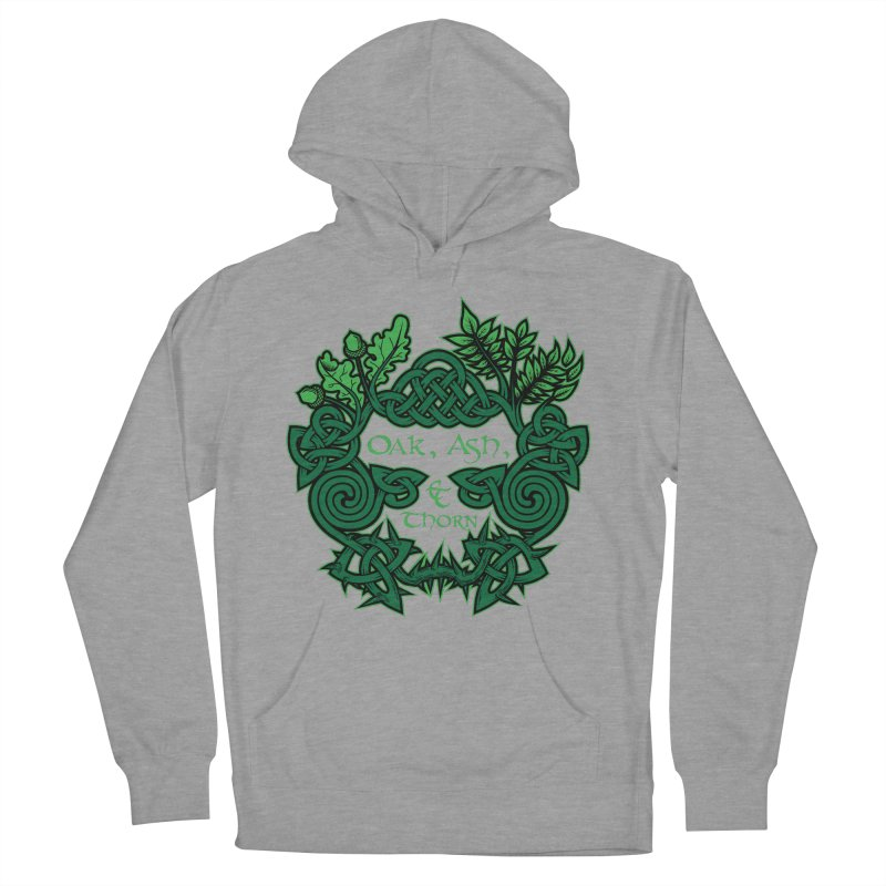 Oak, Ash & Thorn Band Logo Men's French Terry Pullover Hoody by Celtic Hammer Club