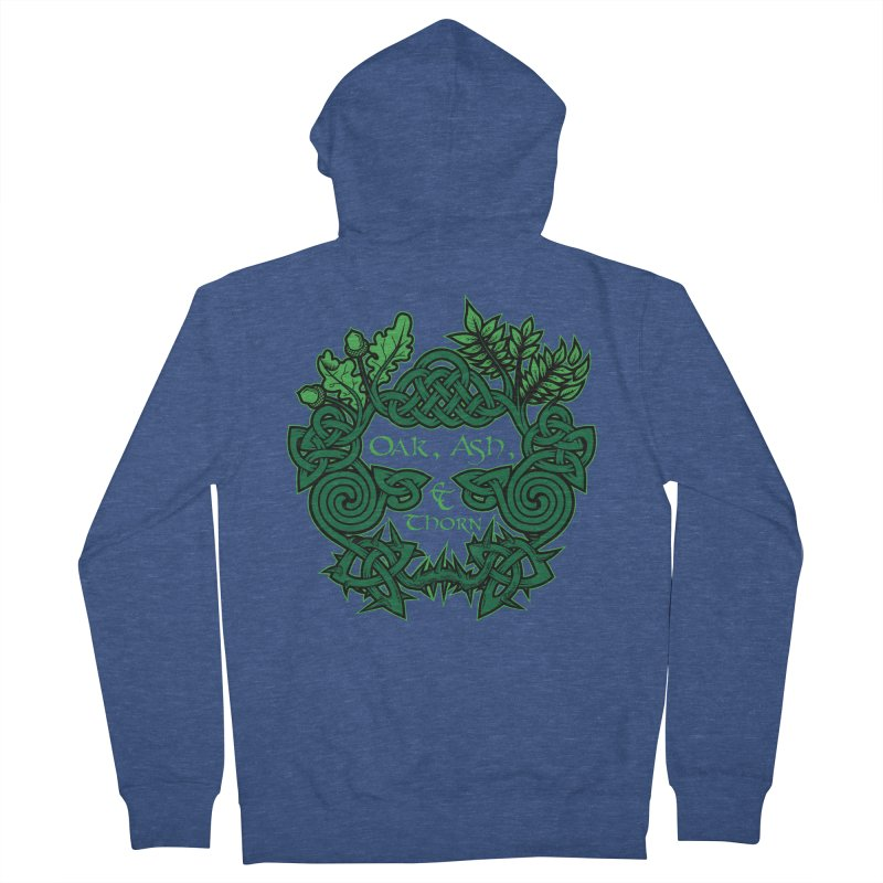 Oak, Ash & Thorn Band Logo Women's French Terry Zip-Up Hoody by Celtic Hammer Club Apparel
