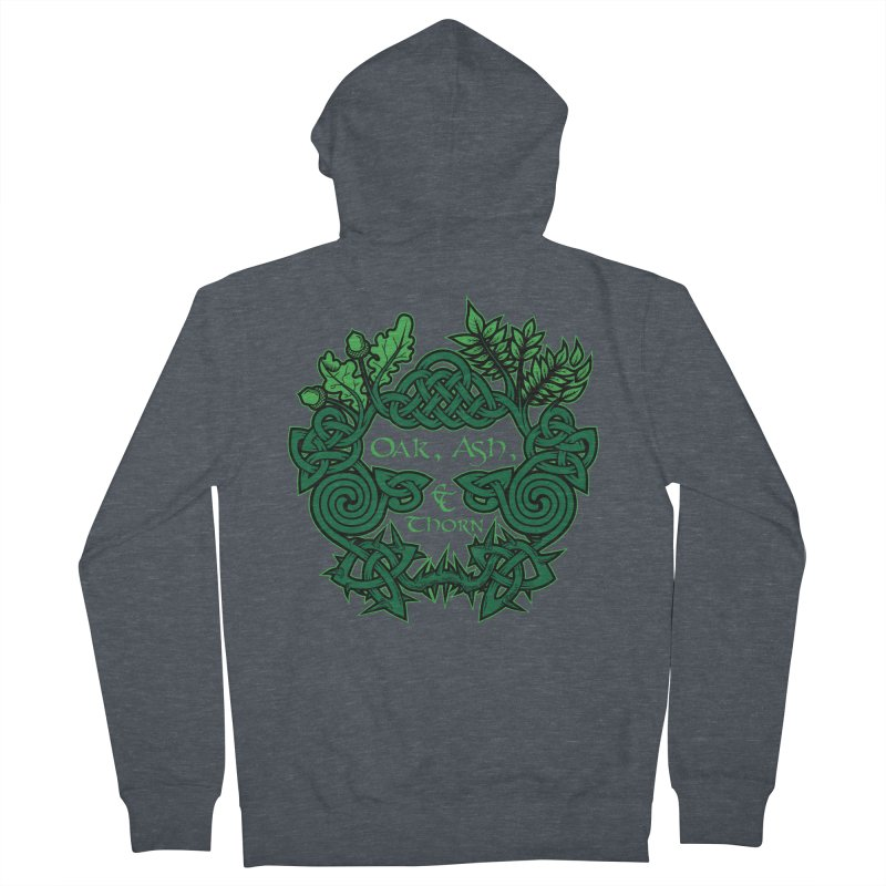 Oak, Ash & Thorn Band Logo Men's French Terry Zip-Up Hoody by Celtic Hammer Club Apparel