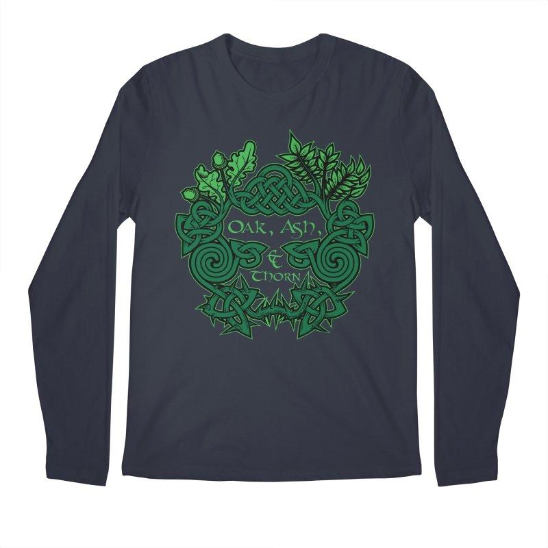 Oak, Ash & Thorn Band Logo Men's Regular Longsleeve T-Shirt by Celtic Hammer Club Apparel