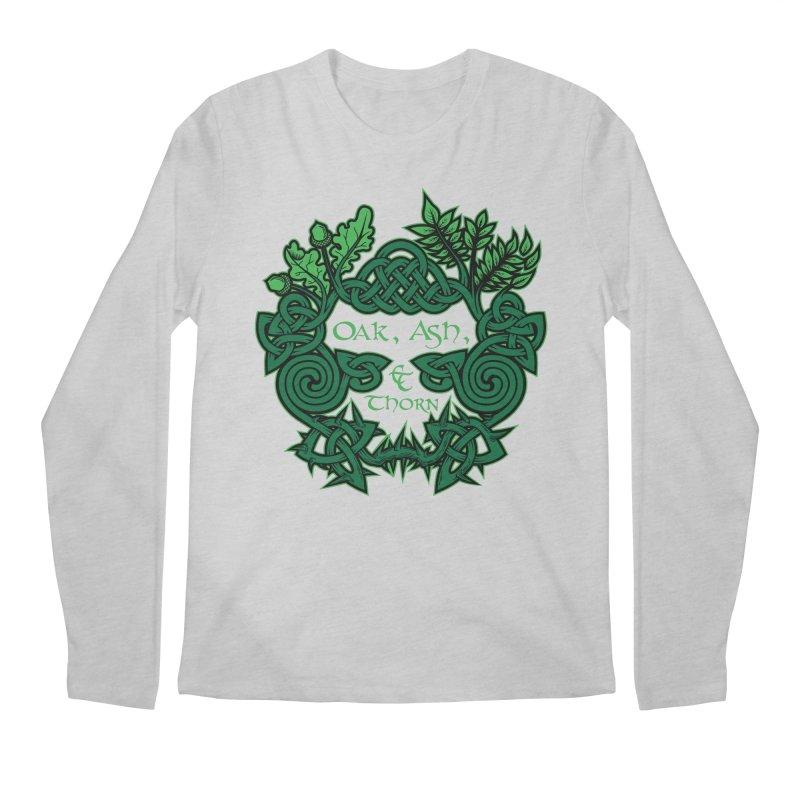 Oak, Ash & Thorn Band Logo Men's Longsleeve T-Shirt by Celtic Hammer Club Apparel
