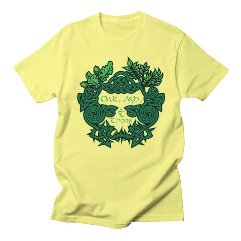 Oak, Ash & Thorn Band Logo Men's Regular T-Shirt by Celtic Hammer Club Apparel