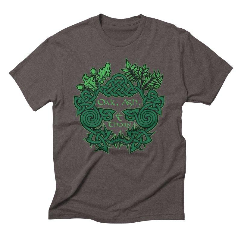 Oak, Ash & Thorn Band Logo Men's Triblend T-Shirt by Celtic Hammer Club Apparel