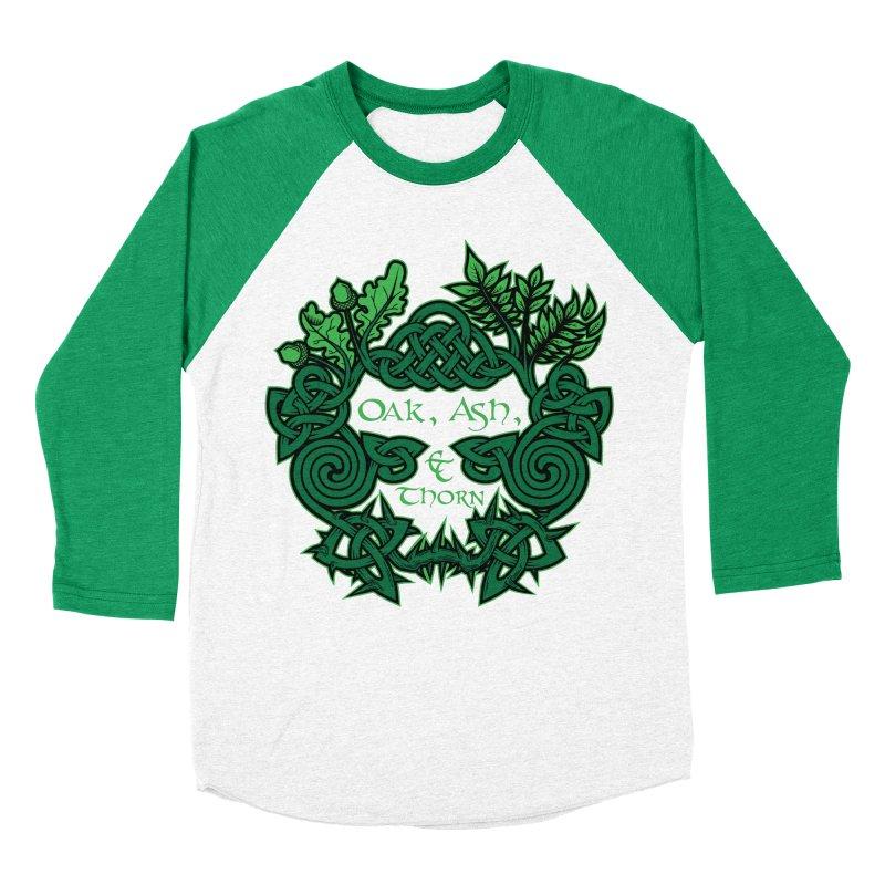 Oak, Ash & Thorn Band Logo Women's Baseball Triblend Longsleeve T-Shirt by Celtic Hammer Club Apparel
