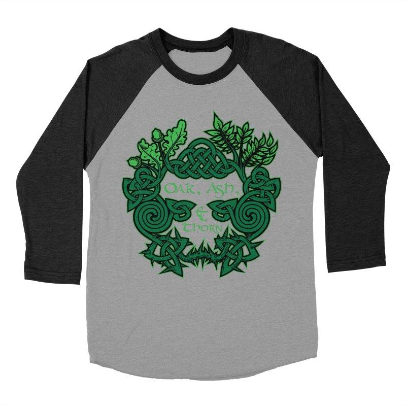 Oak, Ash & Thorn Band Logo Women's Baseball Triblend T-Shirt by Celtic Hammer Club Apparel
