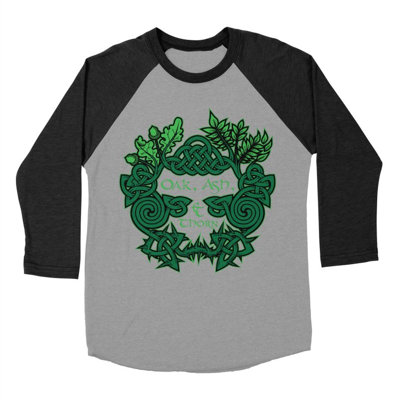 Oak, Ash & Thorn Band Logo Men's Baseball Triblend Longsleeve T-Shirt by Celtic Hammer Club Apparel