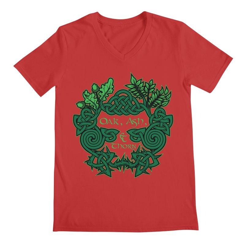 Oak, Ash & Thorn Band Logo Men's V-Neck by Celtic Hammer Club Apparel