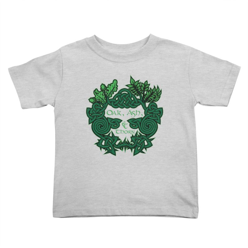 Oak, Ash & Thorn Band Logo Kids Toddler T-Shirt by Celtic Hammer Club Apparel