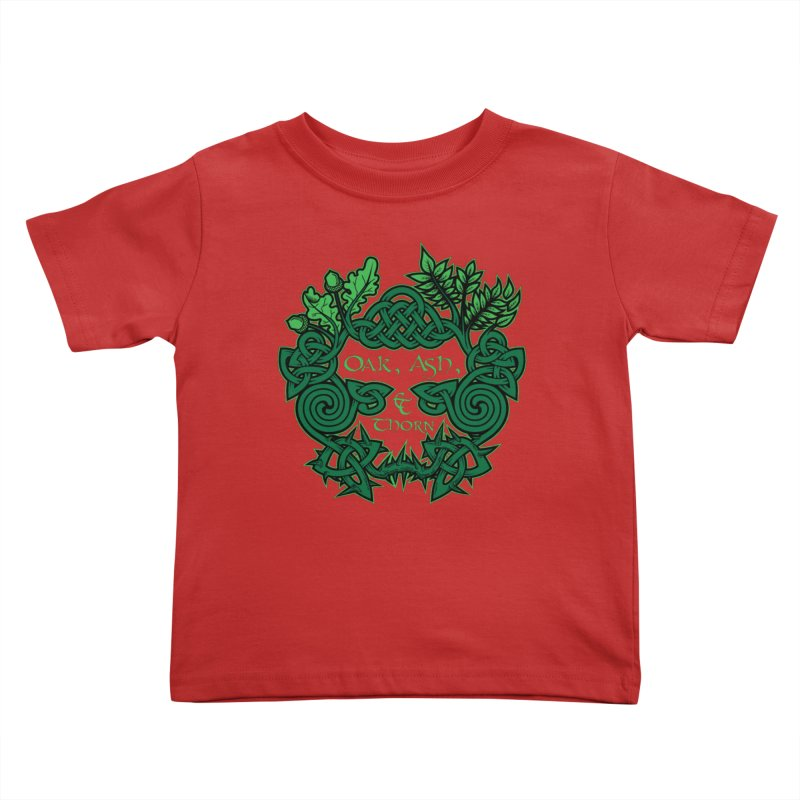 Oak, Ash & Thorn Band Logo Kids Toddler T-Shirt by Celtic Hammer Club Apparel