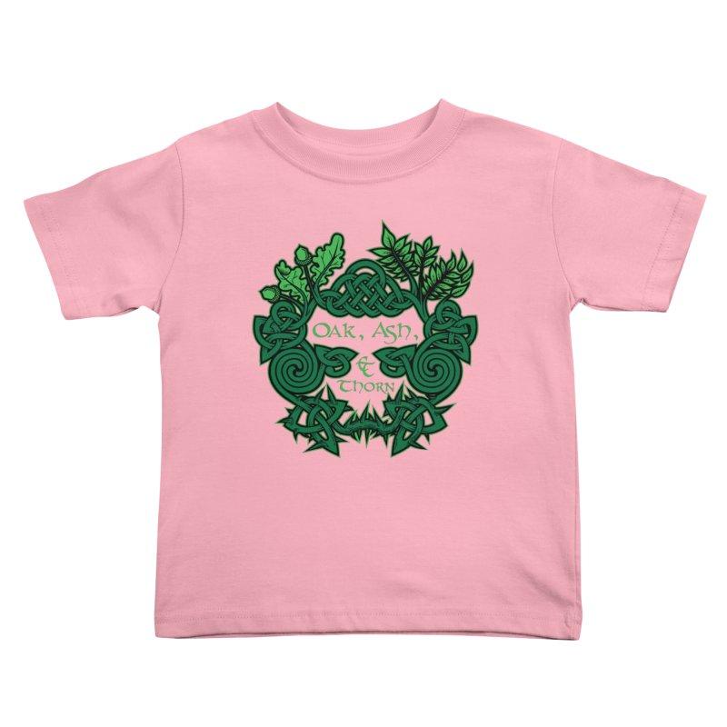 Oak, Ash & Thorn Band Logo Kids Toddler T-Shirt by Celtic Hammer Club
