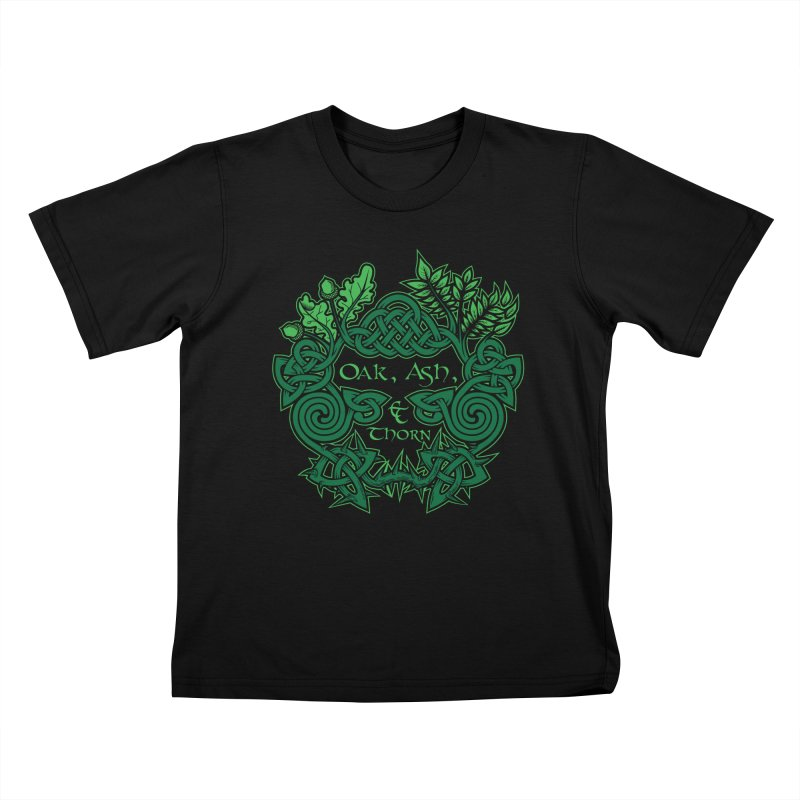 Oak, Ash & Thorn Band Logo Kids T-Shirt by Celtic Hammer Club Apparel