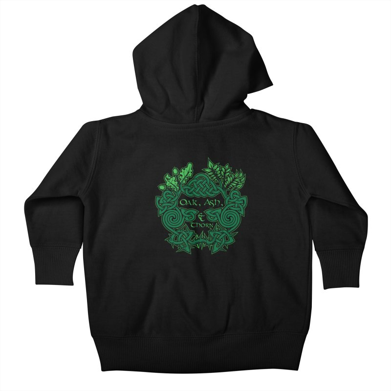 Oak, Ash & Thorn Band Logo Kids Baby Zip-Up Hoody by Celtic Hammer Club Apparel