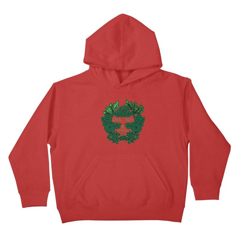 Oak, Ash & Thorn Band Logo Kids Pullover Hoody by Celtic Hammer Club Apparel
