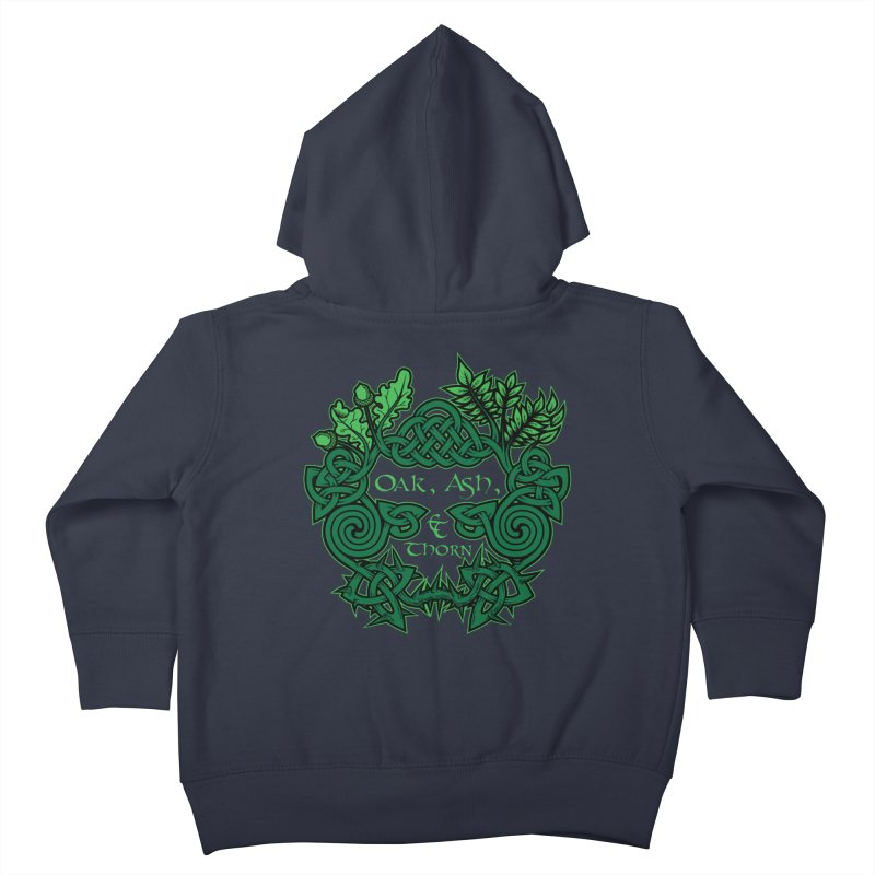 Oak, Ash & Thorn Band Logo Kids Toddler Zip-Up Hoody by Celtic Hammer Club Apparel