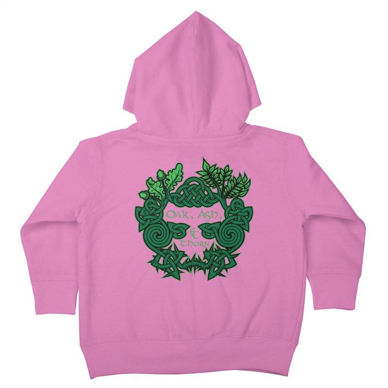Oak, Ash & Thorn Band Logo Kids Toddler Zip-Up Hoody by Celtic Hammer Club