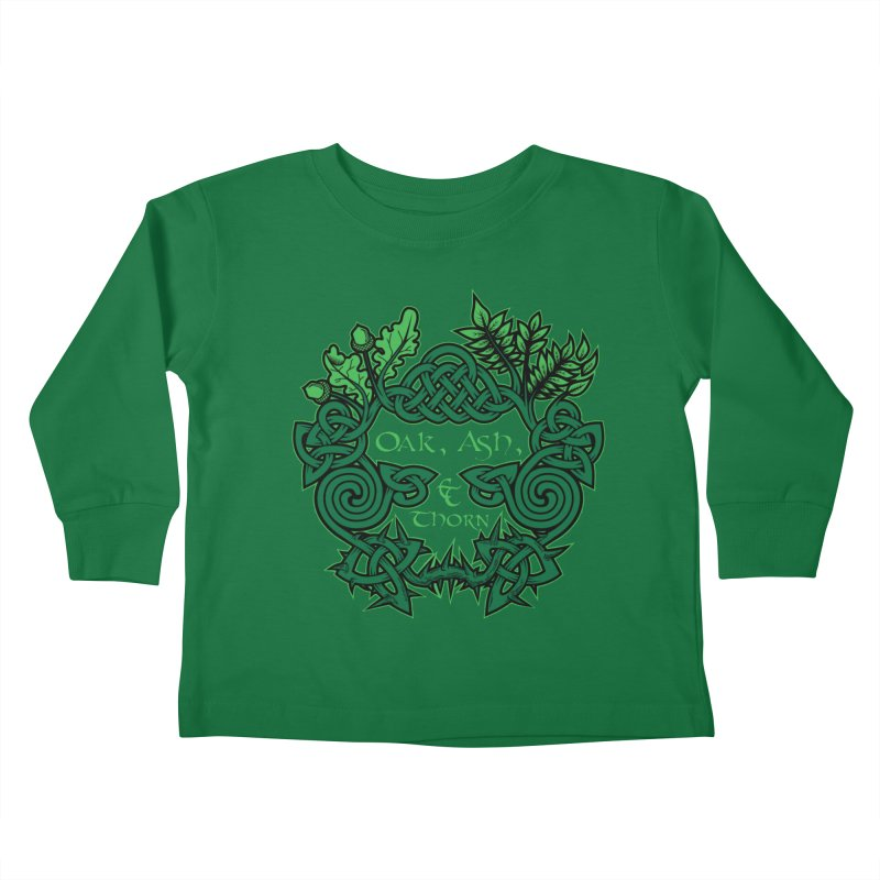 Oak, Ash & Thorn Band Logo Kids Toddler Longsleeve T-Shirt by Celtic Hammer Club Apparel