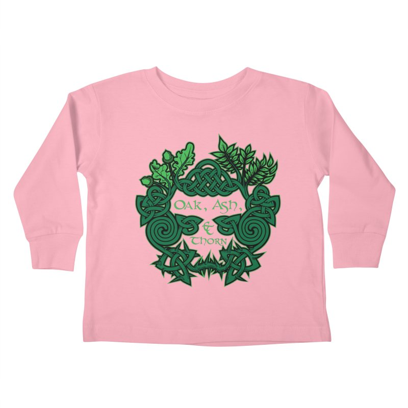 Oak, Ash & Thorn Band Logo Kids Toddler Longsleeve T-Shirt by Celtic Hammer Club Apparel