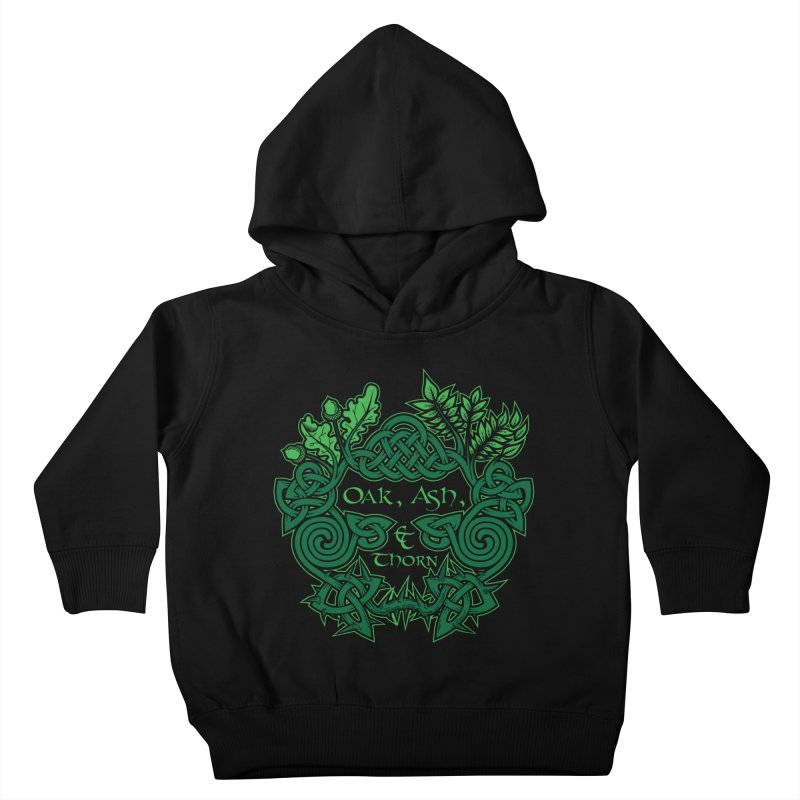 Oak, Ash & Thorn Band Logo Kids Toddler Pullover Hoody by Celtic Hammer Club Apparel