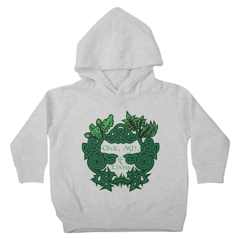 Oak, Ash & Thorn Band Logo Kids Toddler Pullover Hoody by Celtic Hammer Club