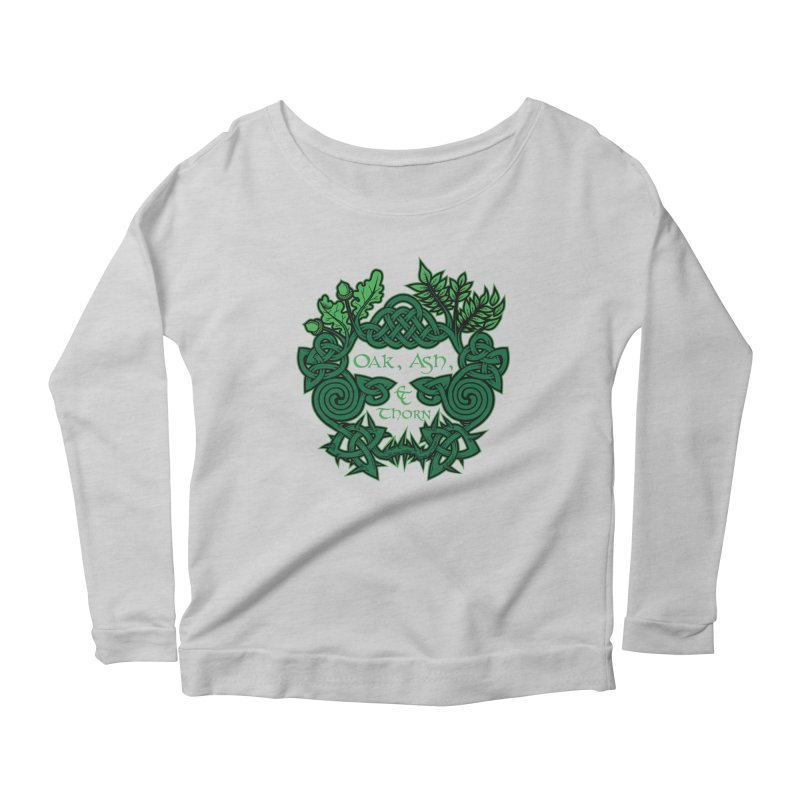 Oak, Ash & Thorn Band Logo Women's Longsleeve Scoopneck  by Celtic Hammer Club Apparel
