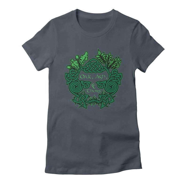 Oak, Ash & Thorn Band Logo Women's Fitted T-Shirt by Celtic Hammer Club Apparel