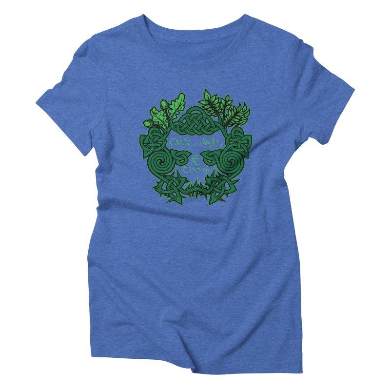 Oak, Ash & Thorn Band Logo Women's Triblend T-Shirt by Celtic Hammer Club Apparel