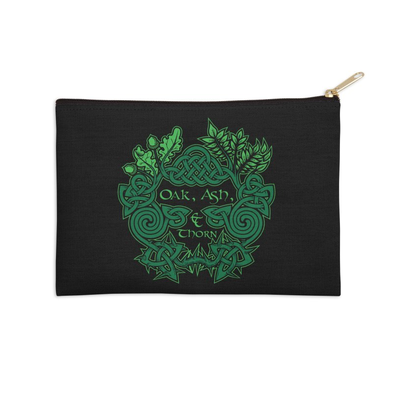 Oak, Ash & Thorn Band Logo Accessories Zip Pouch by Celtic Hammer Club Apparel