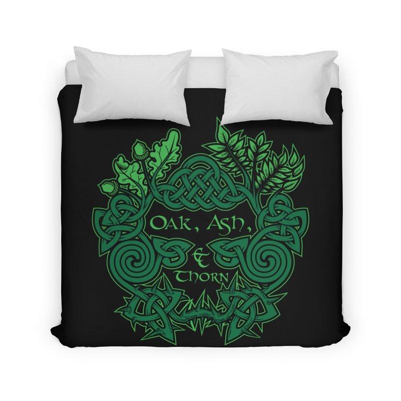 Oak, Ash & Thorn Band Logo Home Duvet by Celtic Hammer Club Apparel