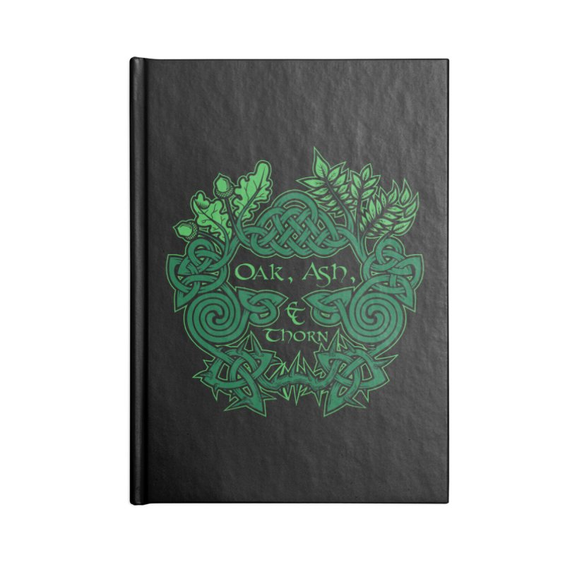 Oak, Ash & Thorn Band Logo Accessories Notebook by Celtic Hammer Club Apparel