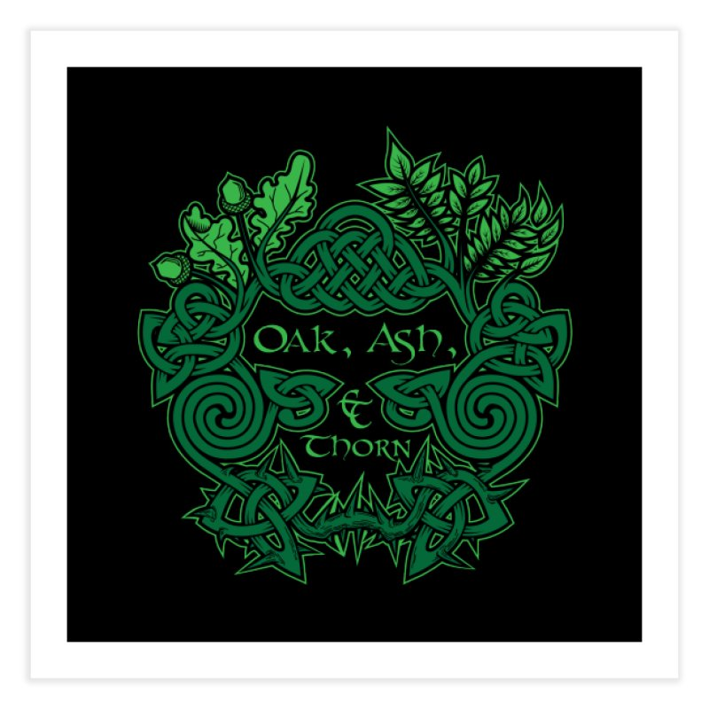 Oak, Ash & Thorn Band Logo Home Fine Art Print by Celtic Hammer Club Apparel