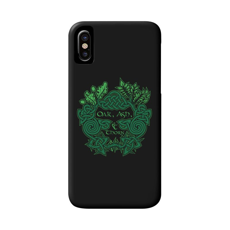 Oak, Ash & Thorn Band Logo Accessories Phone Case by Celtic Hammer Club Apparel