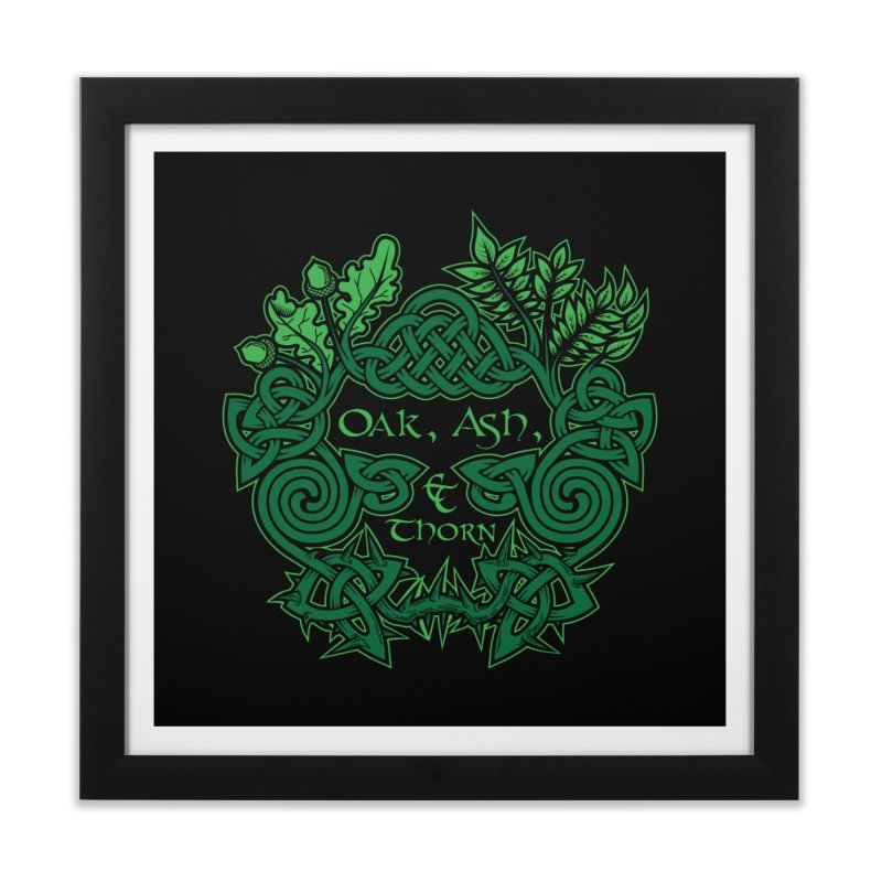Oak, Ash & Thorn Band Logo Home Framed Fine Art Print by Celtic Hammer Club Apparel