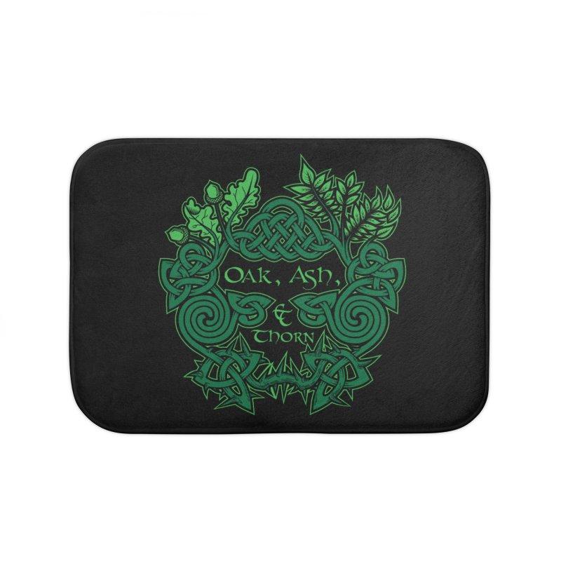 Oak, Ash & Thorn Band Logo Home Bath Mat by Celtic Hammer Club Apparel