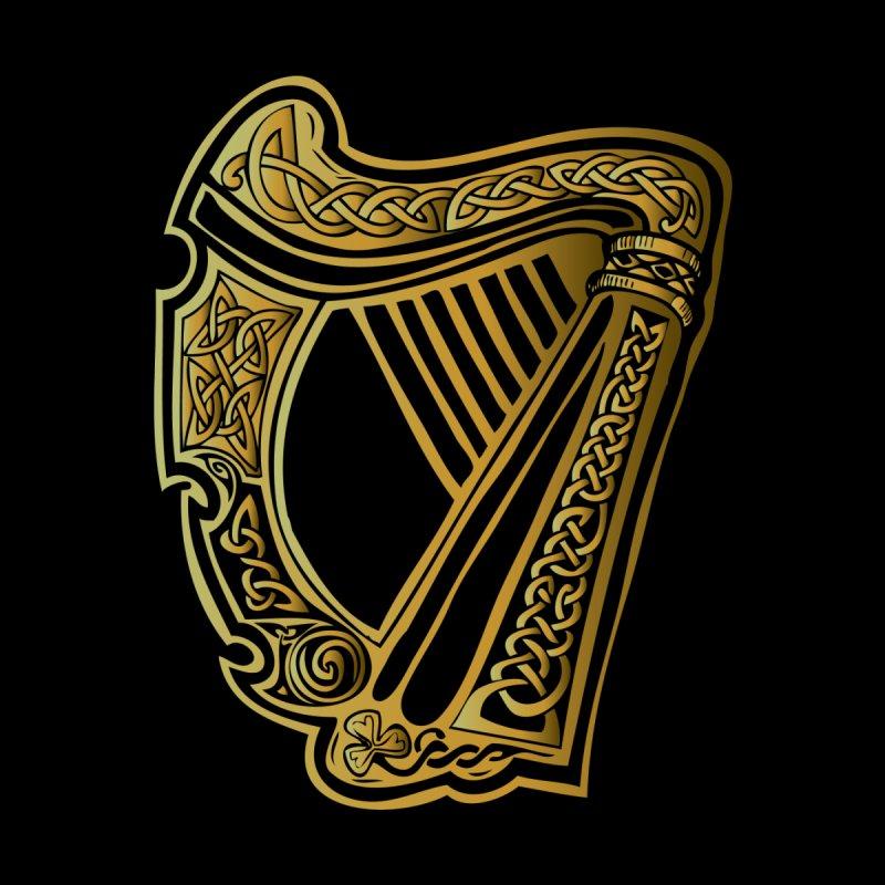 Celtic Harp (Gold) by Celtic Hammer Club Apparel