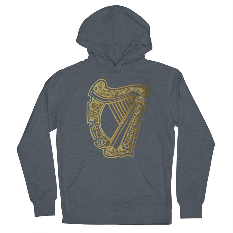 Celtic Harp (Gold) Women's French Terry Pullover Hoody by Celtic Hammer Club