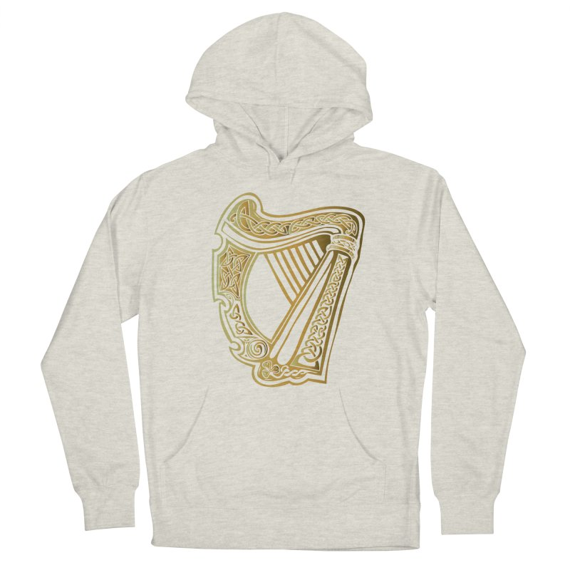 Celtic Harp (Gold) Men's French Terry Pullover Hoody by Celtic Hammer Club