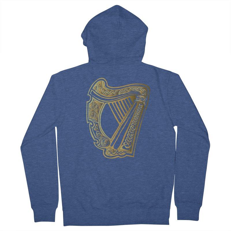 Celtic Harp (Gold) Women's Zip-Up Hoody by Celtic Hammer Club Apparel