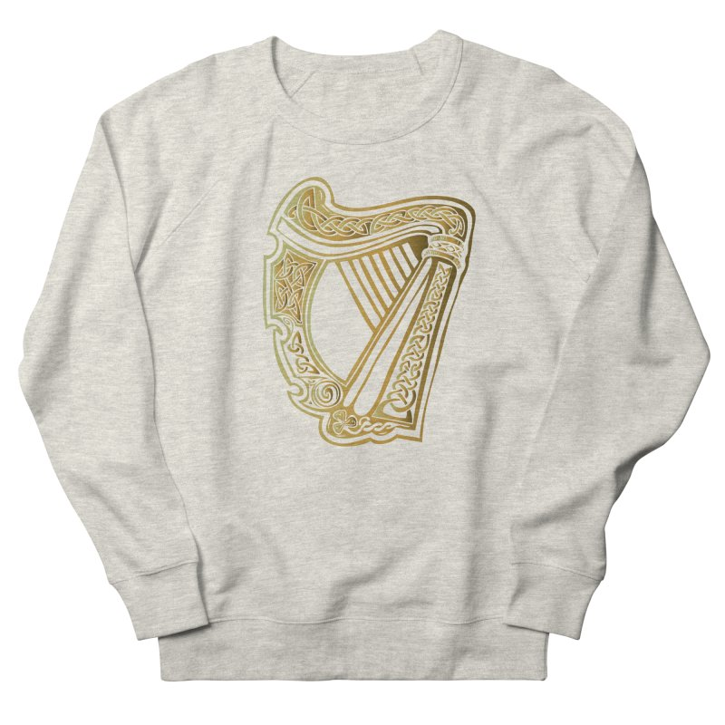 Celtic Harp (Gold) Men's Sweatshirt by Celtic Hammer Club Apparel
