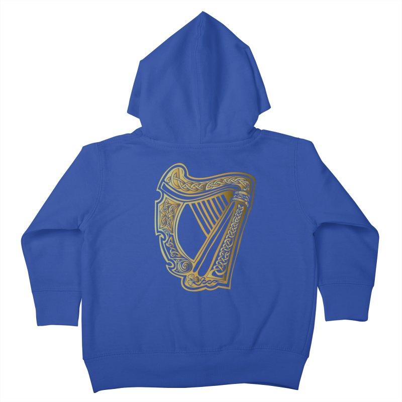Celtic Harp (Gold) Kids Toddler Zip-Up Hoody by Celtic Hammer Club Apparel