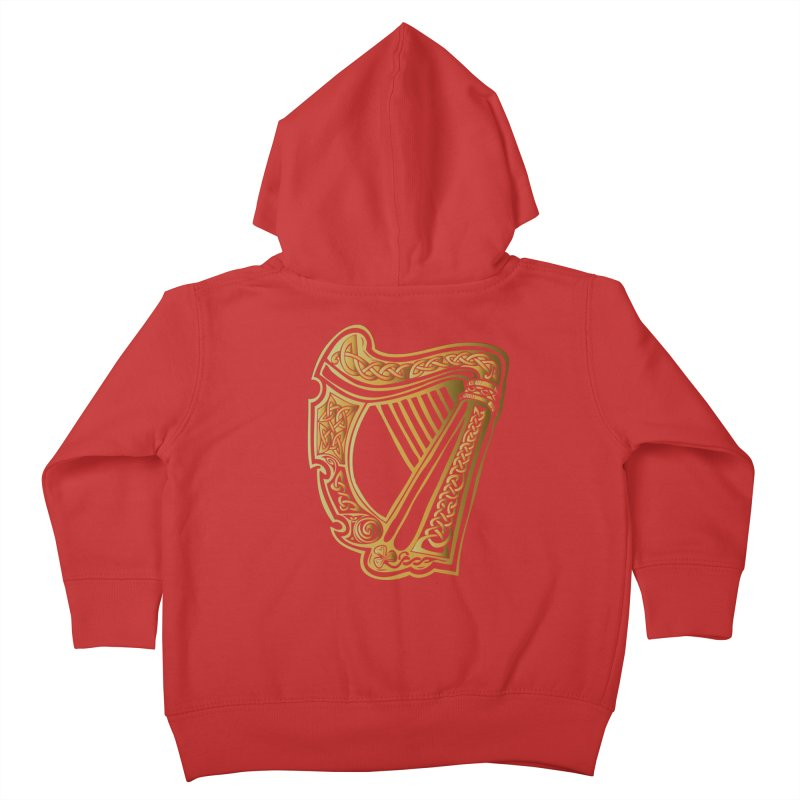 Celtic Harp (Gold) Kids Toddler Zip-Up Hoody by Celtic Hammer Club