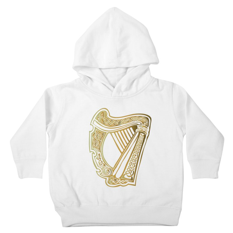 Celtic Harp (Gold) Kids Toddler Pullover Hoody by Celtic Hammer Club Apparel