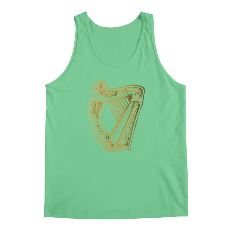 Celtic Harp (Gold) Men's Regular Tank by Celtic Hammer Club Apparel