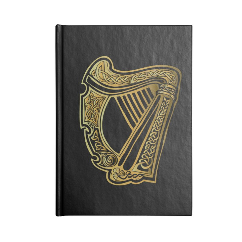 Celtic Harp (Gold) Accessories Notebook by Celtic Hammer Club Apparel