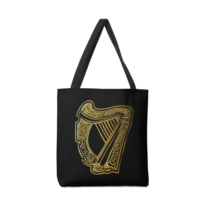 Celtic Harp (Gold) Accessories Bag by Celtic Hammer Club Apparel