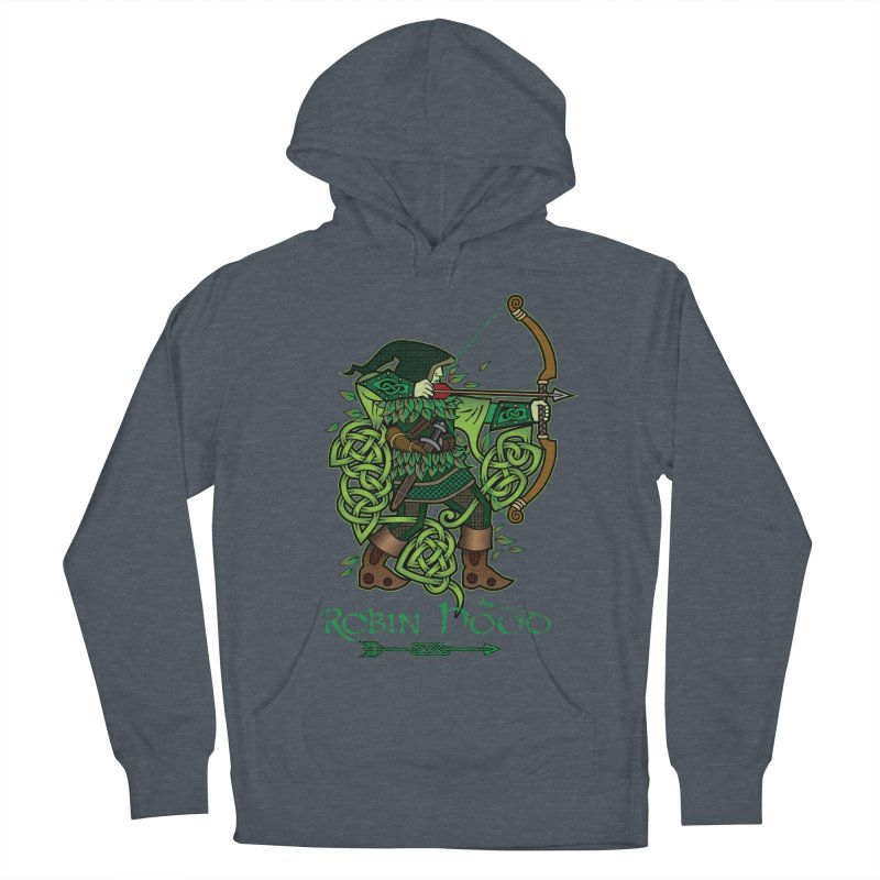 Robin Hood (Full Color Version) Men's French Terry Pullover Hoody by Celtic Hammer Club Apparel
