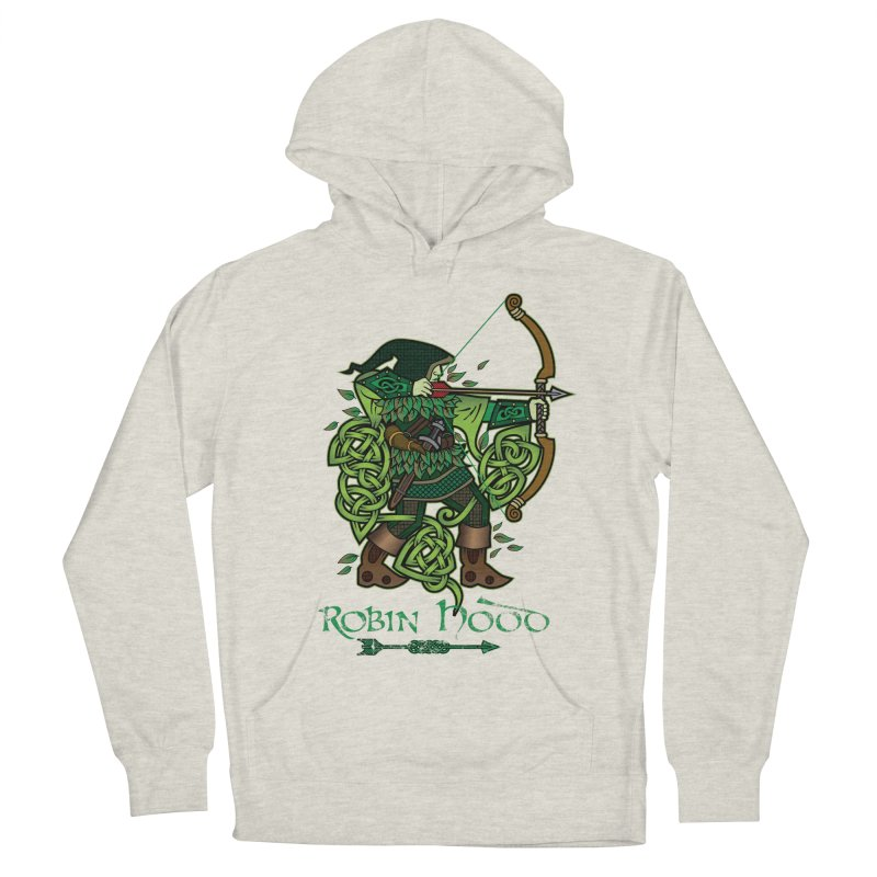 Robin Hood (Full Color Version) Men's French Terry Pullover Hoody by Celtic Hammer Club