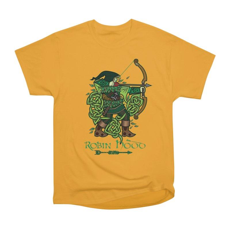 Robin Hood (Full Color Version) Women's Heavyweight Unisex T-Shirt by Celtic Hammer Club Apparel